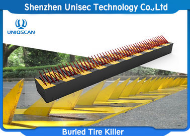 IP67 Waterproof Spiked Road Barrier Anti - Rust Paint For Checking Point