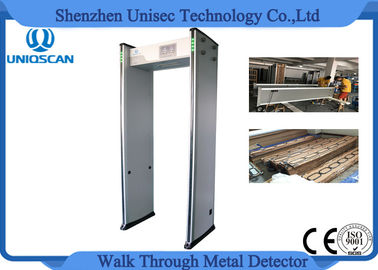 China 0-999 Sensitivity walk through gate metal detector with 33  optional network verdeler